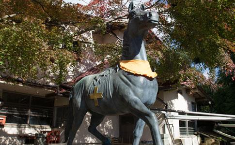 能勢妙見山の8頭の神馬